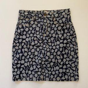GORMAN Size 10 denim skirt floral